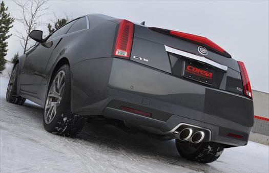 Corsa Cadillac Cts V Coupe Stainless Axle Back Sport Exhaust 2017 13 Lingenfelter Performance Engineering